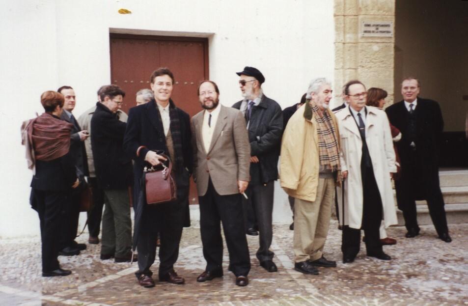 Con Antonio Enrique y otros escritores