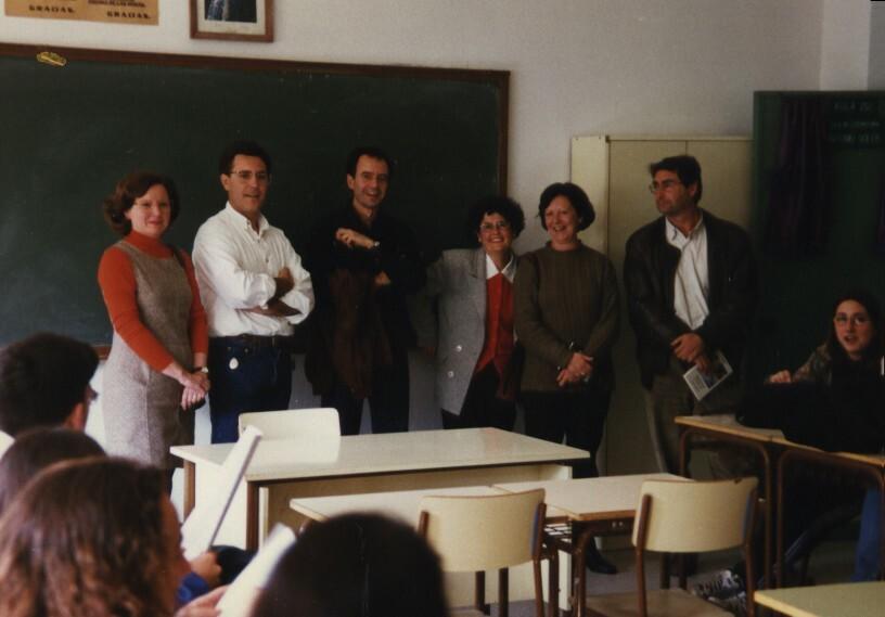 Con Antonio Soler y otros amigos (marzo 1998)