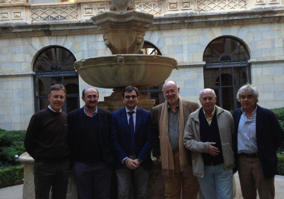Con Eslava Galán, Antonio Carvajal, Salvador Compán, entre otros.