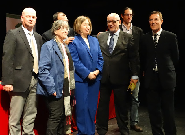 con Francisco Cañadas, Pilar Quirosa, José Antonio Santano, Remedios Sánchez, Francisco López Barrios, José Cabrera Martos y F. Morales Lomas.