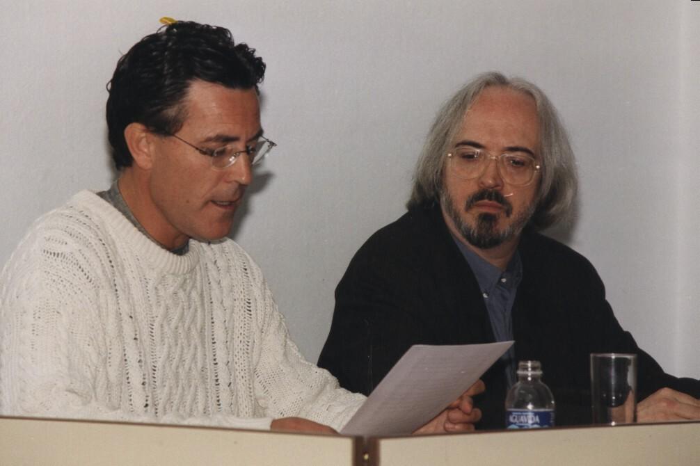 Con Joan Manuel Gisbert (marzo 2000)