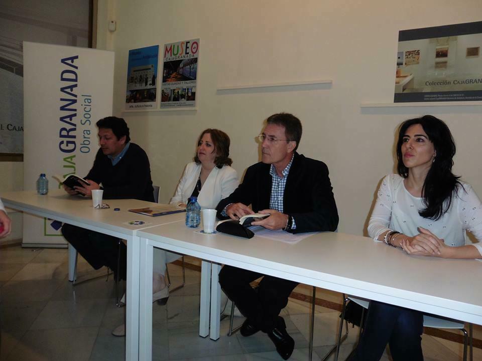 con Jorge Galán, Remedios Sánchez y Raquel Lanseros.