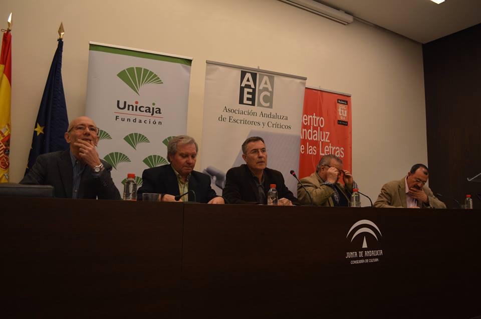 con Manuel Gahete, Antonio Moreno Ayora, Carlos Clementson y José Antonio Santano