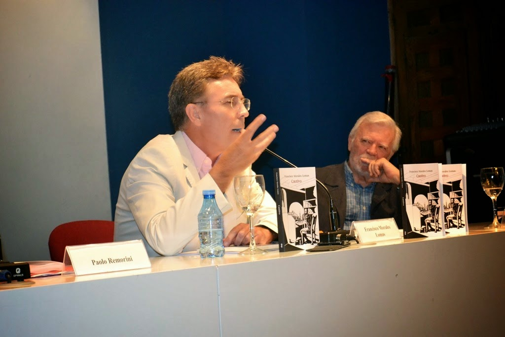 con Rafael Ballesteros en la presentación de Cautivo.