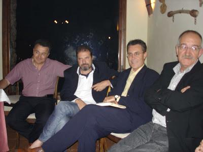 Con Ángel Moyano Fernando de Villena y Tomás Hernández