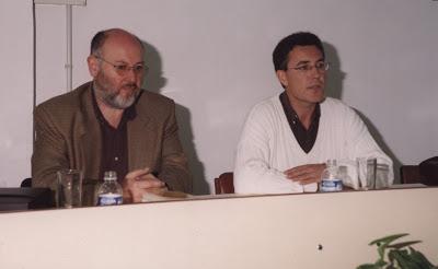 Con Juan Eslava Galán (2000)