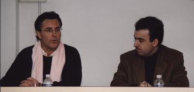 Con Lorenzo Silva (año 2000)