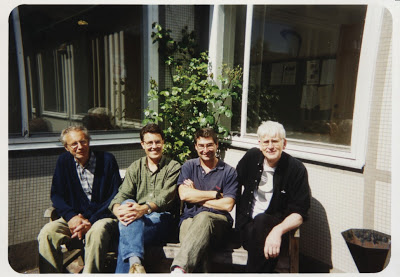 Con el poeta sueco Lase Sodërberg y el pintor José Boyano
