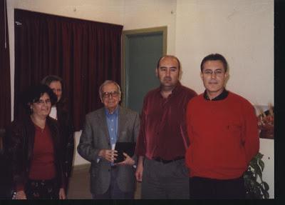 Fotos con Pablo García Baena y José L. González Vera