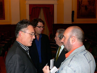 Con Manuel Alcántara, Juan Gaitán y Teodoro León Gross