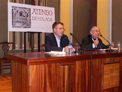 """Con Juan Campos Reina (2007) en la presentación de """"El extraño vuelo de Ana Recuerda"""""""