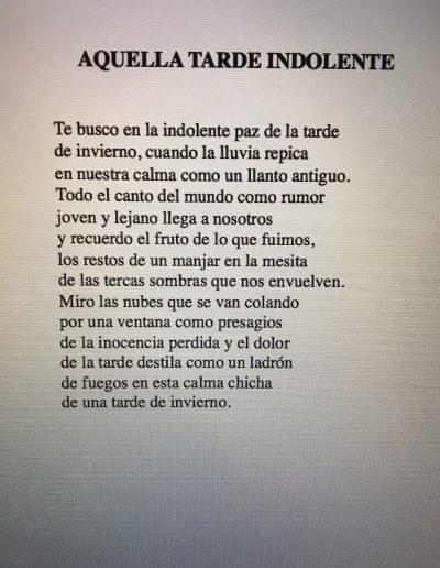 Poema de El espejo vacío1