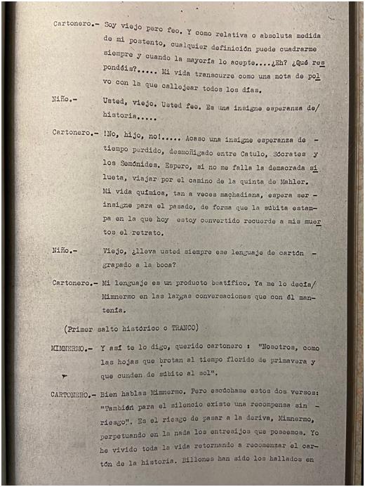 ACTO ÚNICO. DIÁLOGOS DE LA NEGRITUD HISTÓRICA (1980) (INÉDITA)